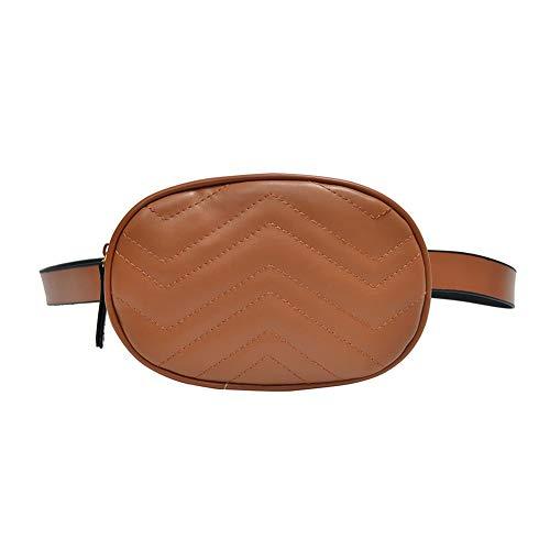 Cremallera Ovalado para el Negro Mujer marrón Hombro con Piel para Mujer JUNERAIN Bolso sintética TxwR4