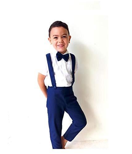 7759ac8310d Amazon.com  Boy Suspender Pants-Navy