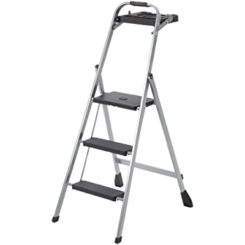 Skinny Mini 3 Step Steel Step Stool With Project Tray