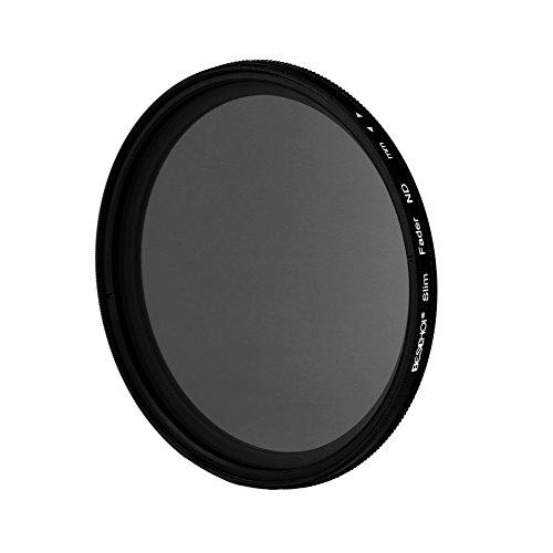 (Beschoi 77mm Ultra Slim ND2-ND400 Fader Variable Neutral Density Adjustable Lens Filter Optical Glass)