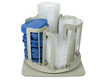 - SWIRL AROUND CAROUSEL ORGANIZER - COMPACT STORAGE FOR YOUR FOOD CONTAINERS!