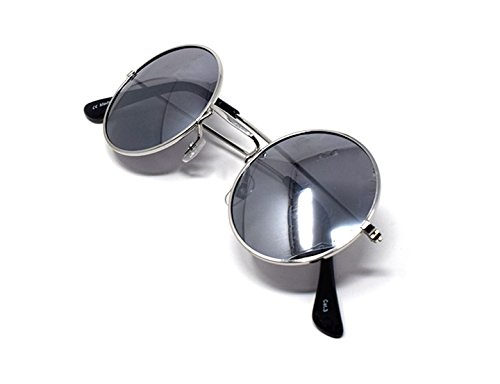 Retro John Adultes de Vintage Plata Con de UV400 Plata Qualité Lennon Unisexe Lentes Soleil Espejadas Lunettes Femmes Style Classique Rondes Elton Petit Hommes d0wqf10A
