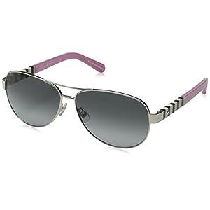 Kate Spade Women's Dalia Aviator Sunglasses, Silver & Gray Gradient, 58 mm