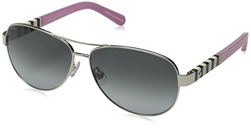 Kate Spade Women's Dalia Aviator Sunglasses, Silver & Gray Gradient, 58 mm by Kate Spade New York