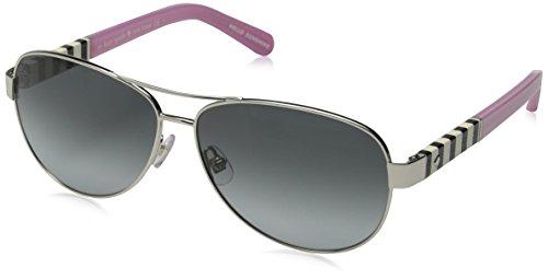 Kate Spade Women's Dalia Aviator, Silver & Gray Gradient, 58 - Sunglasses Kate Gray Spade