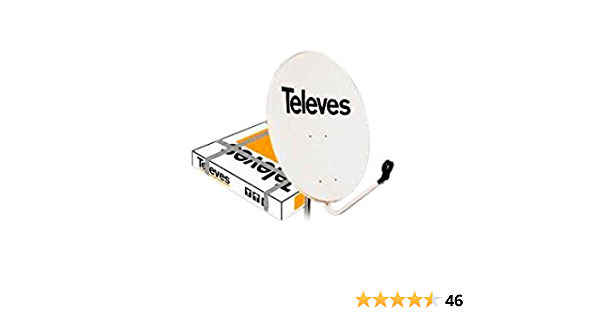 Televes 790111 - Antena parabolica hierro 800 blanco: Amazon ...