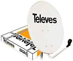 Televes 790111 - Antena parabolica hierro 800 blanco ...