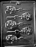 Cybrtrayd Life of the Party H121 Halloween Cinco de Mayo Scary Skull Lolly Chocolate Candy Mold in Sealed Protective Poly Bag Imprinted with Copyrighted Cybrtrayd Molding Instructions