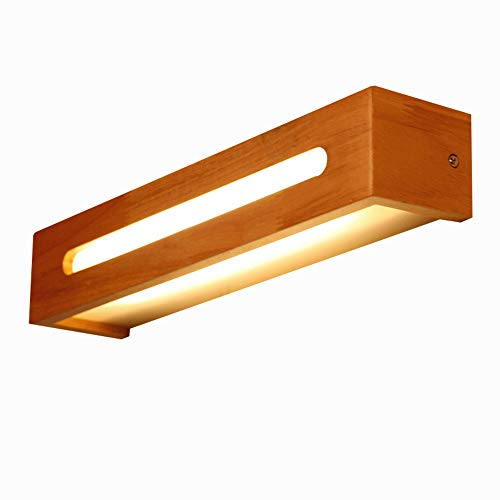 SKSNBJQD Creative Design Mirror lamp Bathroom Mirror Headlight Wood Wall lamp 350mm / 450mm / 550mm Wood Glass WML007,warmlight,55CM