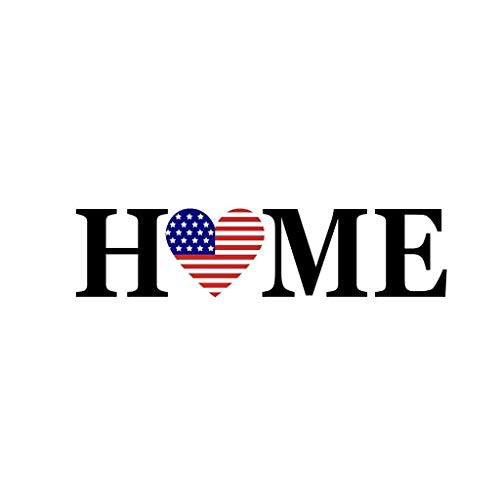 Ki-8Jcud Independence Day July of 4Th Family Home Wall Sticker Removable Mural Decals Vinyl DIY Decor Bedroom (F, 1pc) -