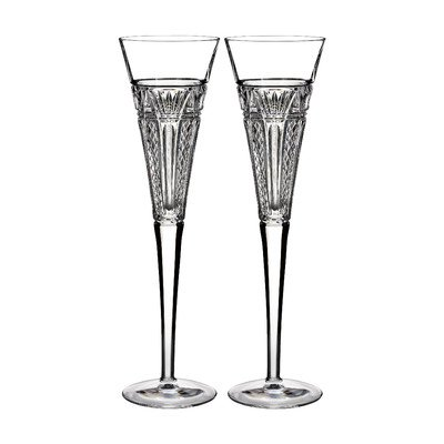 Waterford Crystal 2015 Times Square Clear Toasting Flutes - Set of 2 Glasses by Waterford