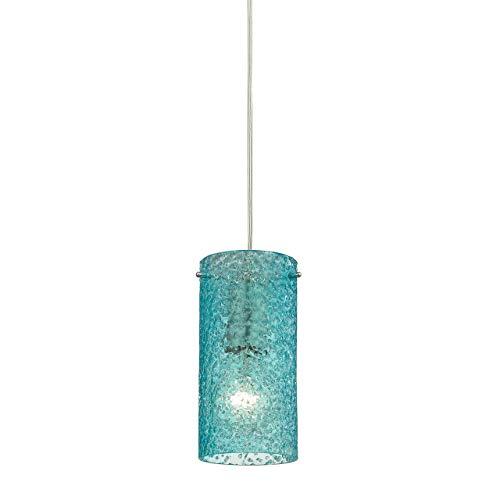 Aqua Blue Glass Pendant Light