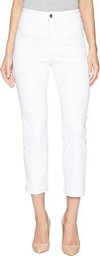 Lyssé Women's Cigarette Denim Pant, White, L