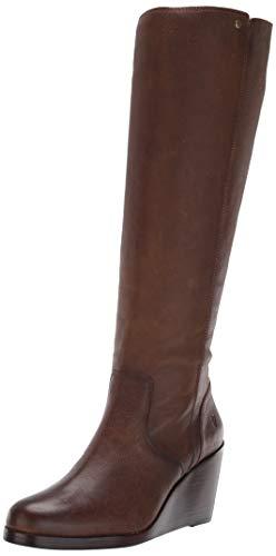FRYE Women's Emma Wedge Tall Fashion Boot, Brown, 5.5 M US
