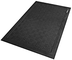 For Indoor Andersen 371 Black Nitrile Rubber Cushion Station Anti-Fatigue Mat with Hole 3-3//16 Length x 2 Width