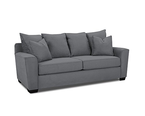 Klaussner HEATHER Sofa, Microsuede Charcoal