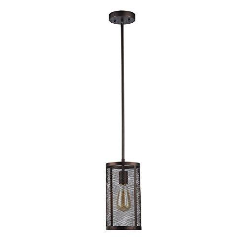 Edvivi Aludra 1-Light Round Metal Mesh Shade Mini Pendant Chandelier Oil Rubbed Bronze | ORB | Industrial Lighting