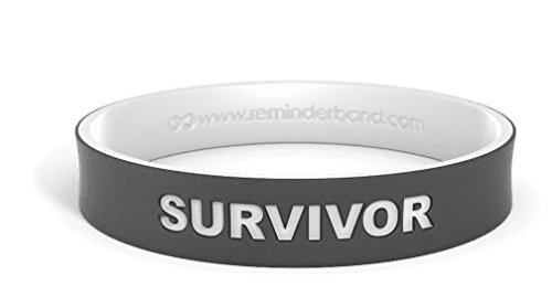 Reminderband Dual Layer Wristbands (Black/White, -