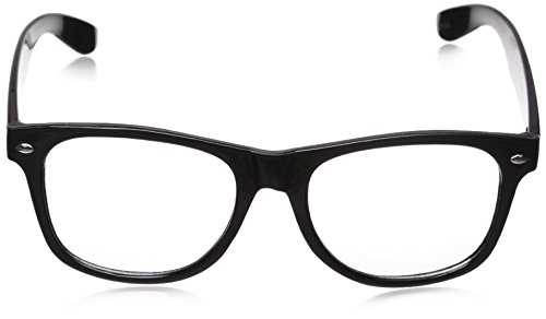 CLEAR LENS 80's Style Vintage Style Black Frame Sunglasses