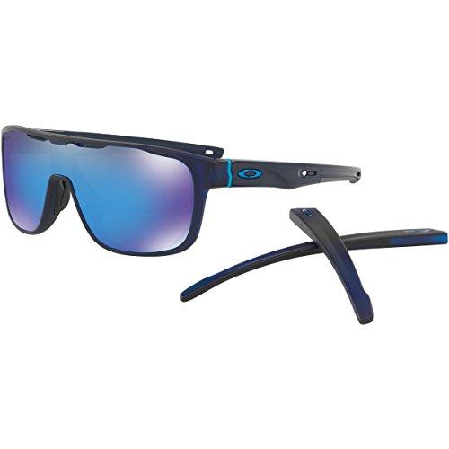 Oakley Men's Crossrange Shield Non-Polarized Iridium Rectangular Sunglasses, Matte Translucent Blue, 0 - Shields Oakley