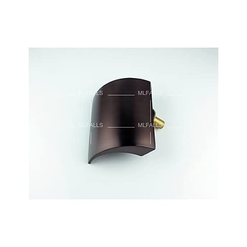 W&P Oil-sanitary pipe fittings brass plated deck installed copper waterfall bathroom basin mixer delicate