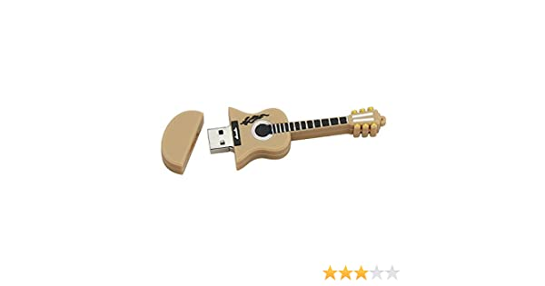 16GB Light Brown Guitarra USB Flash Drive pendrive Pen Drive USB 2.0 Flash Drive Memory Stick U Disco: Amazon.es: Electrónica