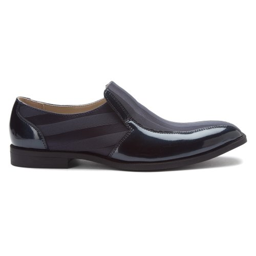 Stacy Adams Men's Regalia Slip-On Loafer Navy Patent Leather/Fabric cheap affordable gUc1KJ