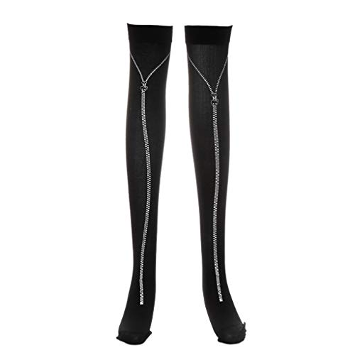 yunerd Halloween Skeleton Long Knee High Socks Costume Masquerade Carnival Cosplay Soft]()