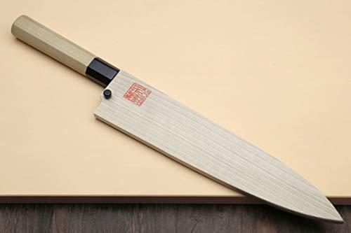 Yoshihiro Hongasumi Blue Steel Mioroshi Filet Sushi Sashimi Japanese Knife Magnolia Handle (8.25''/210mm) by Yoshihiro (Image #8)