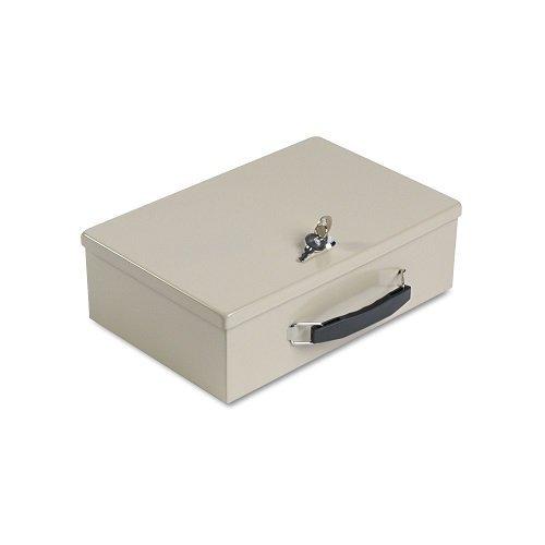 (SteelMaster Heavy-Duty Steel Fire-Retardant Security Cash Box, Key Lock, Sand, Case of 2)