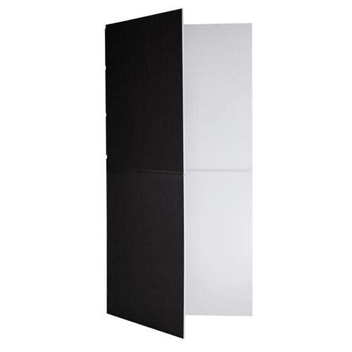 V-FLAT WORLD 2 Pack Foldable V-Flat Bounce Board, Black/White - with Flashpoint 10' C Stand on Turtle Base Kit, 40'' Grip Arm & Two 3'' GOBO Heads, Microfiber Cloth by V-FLAT WORLD (Image #2)