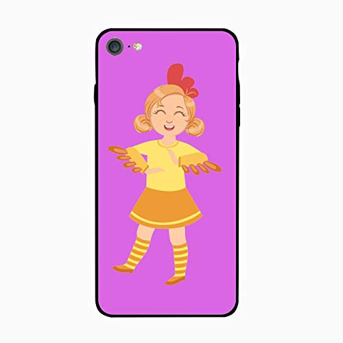 Personalized Girl Wearing Chicken Animal Costume iPhone 6/6s Case for [4.7 inch]