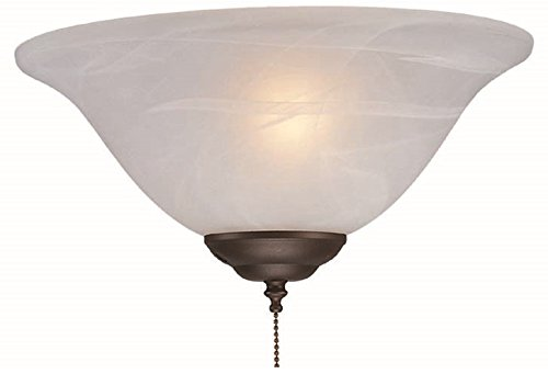 Royal Pacific 1RP18LED-OB LED Alabaster Glass Dimmable Ceiling Fan Light Kit, 12'', Oil Rubbed Bronze Finish (Case of 6)
