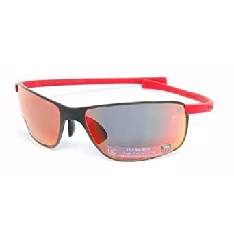 bc14b80c4f7 Tag Heuer Curves 2S - Black Ceramic 5023 Sunglasses Red Temples   Green  Precision Lens (501)  Amazon.co.uk  Clothing