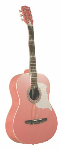Johnson JG-100-PK Student Acoustic Guitar, Pink