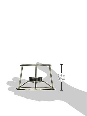 "American Metalcraft CIFDR Cast Iron Fondue Pot and Stand, 4.95"" Length x 5.05"" Width, Silver"