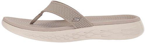 Sandals Toe Open Beige taupe Skechers 15300 Women''s nq67xwCIt
