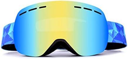 スキーゴーグルスノーボードゴーグルスノーボードスノーゴーグルデュアルレイヤー球面レンズアンチフォグ風の抵抗アンチグレアレンズ付き