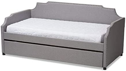 Baxton Studio Grey Upholstered Twin Size Sofa Daybed