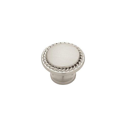 - Liberty PN0293-SN-C 30mm Rope Edged Kitchen Cabinet Hardware Knob, Satin Nickel