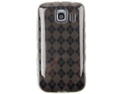 (Flexible Plastic TPU Phone Cover Case Smoke Checkers for LG Optimus S)