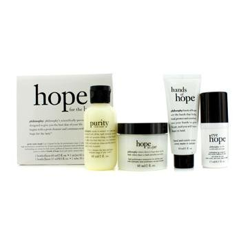 Hope for the Best Coffret: Cleasner 60ml/2oz + Mositurizer 60ml/2oz + Eye Cream 15ml/0.5oz + Hand Cream 30ml/1oz