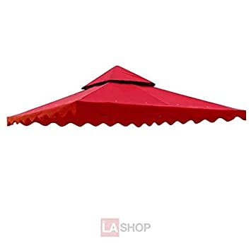 Superb 10x10 Feet Square Red Polyester Fabric Garden Canopy Gazebo Replacement Top Scallop Edge Two Tiers  sc 1 st  Amazon.com & Amazon.com : Superb 10x10 Feet Square Red Polyester Fabric Garden ...