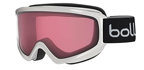 Bolle Freeze Shiny Googles, White Vermillon, One Size (Bolle Snow Goggles Men)