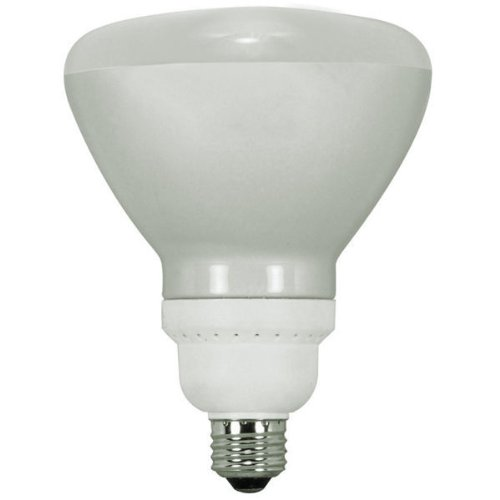 Compact R40 23w - Satco S7242 23-Watt Medium Base R40 Reflector, 4100K, 120V, Equivalent to 85-Watt Incandescent Lamp