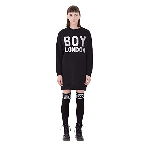 London Abito Nero Felpa Boy Bld1686 a4HqR4d