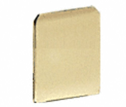 C.R. LAURENCE WU3ECSB CRL Satin Brass End Cap for WU3 Series Wet/Dry U-Channel