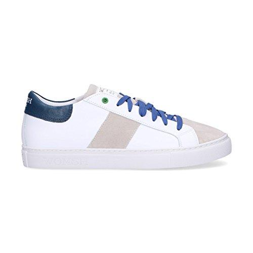 WOMSH Herren K180652 Weiss Leder Sneakers