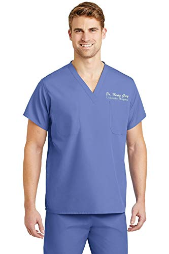 591e7a38afa ... Name Scrub Top + Bottom Set for Medical Professional | Doctor Physician  Nurse MD DO PA NP Student Med Tech MLS Lab Surgery Laboratory (Ceil Blue,  Men)