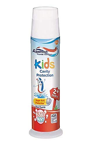 Aquafresh Kids Fluoride Toothpaste with Triple Protection, Bubblemint, 4.6 oz (130.4 ()